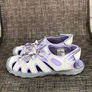 Khombu girls gray&lavender waterproof sandals